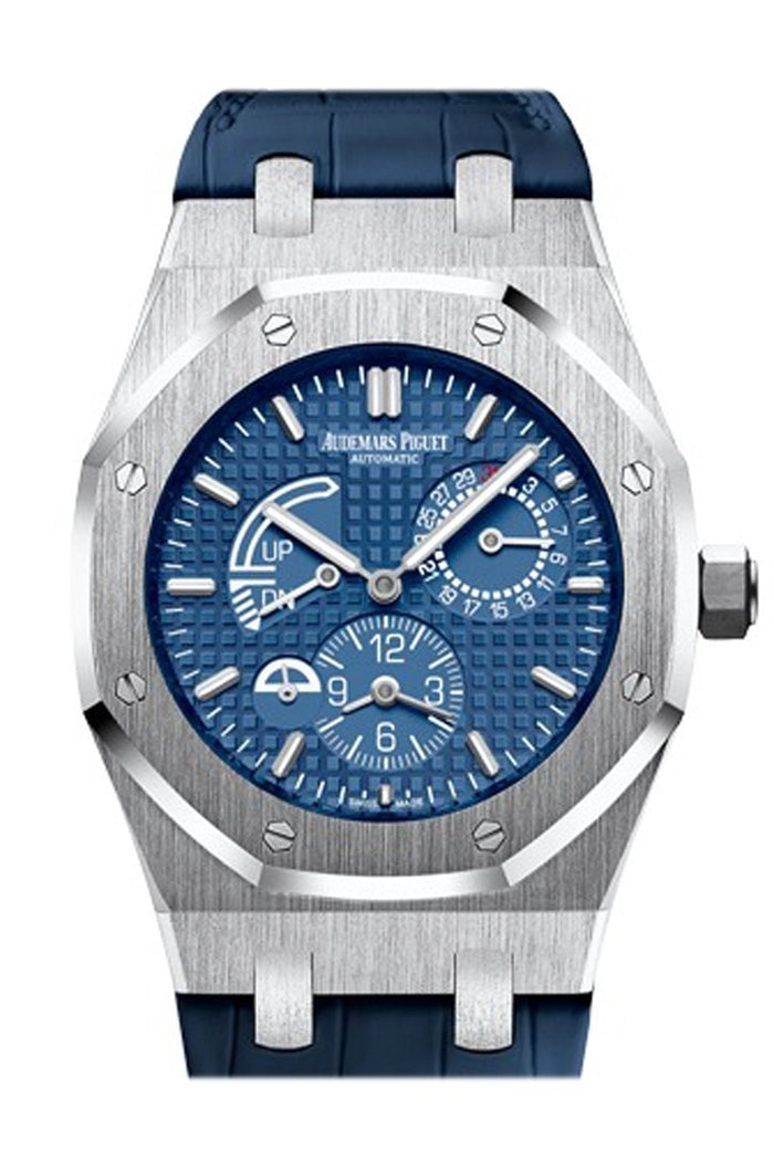Audemars Piguet Royal Oak 39mm Blue Dial Dual Time Automatic Stainless steel Men's Watch 26124ST.OO.D018CR.01
