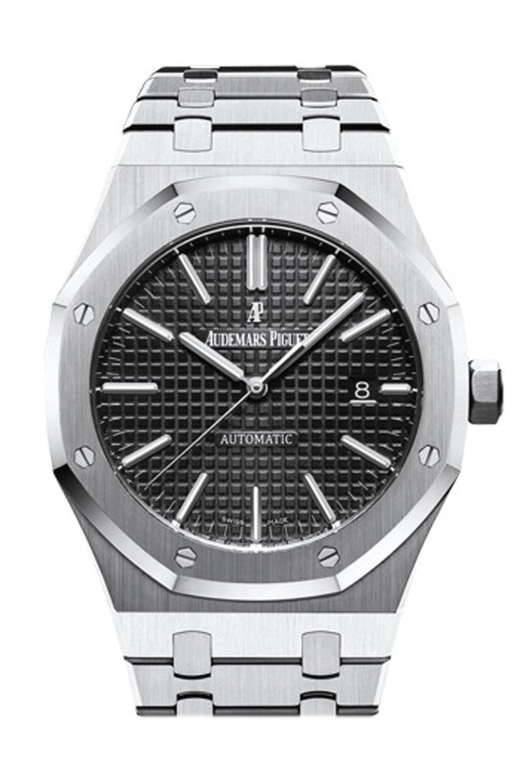 Audemars Piguet Royal Oak 41Mm Black Dial Stainless Steel Bracelet Mens Watch 15400St.oo.1220St.01