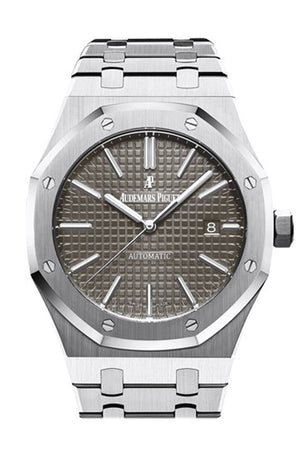 Audemars Piguet Royal Oak 41Mm Grey Ruthenium-Toned Dial Stainless Steel Bracelet Mens Watch