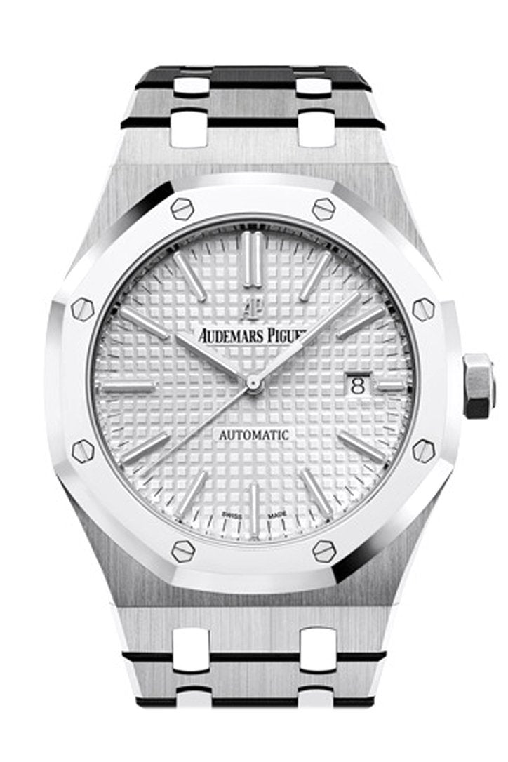 Audemars Piguet Royal Oak 41Mm Rhodium-Toned Dial Titanium Bracelet Mens Watch 15403Ip.oo.1220Ip.01