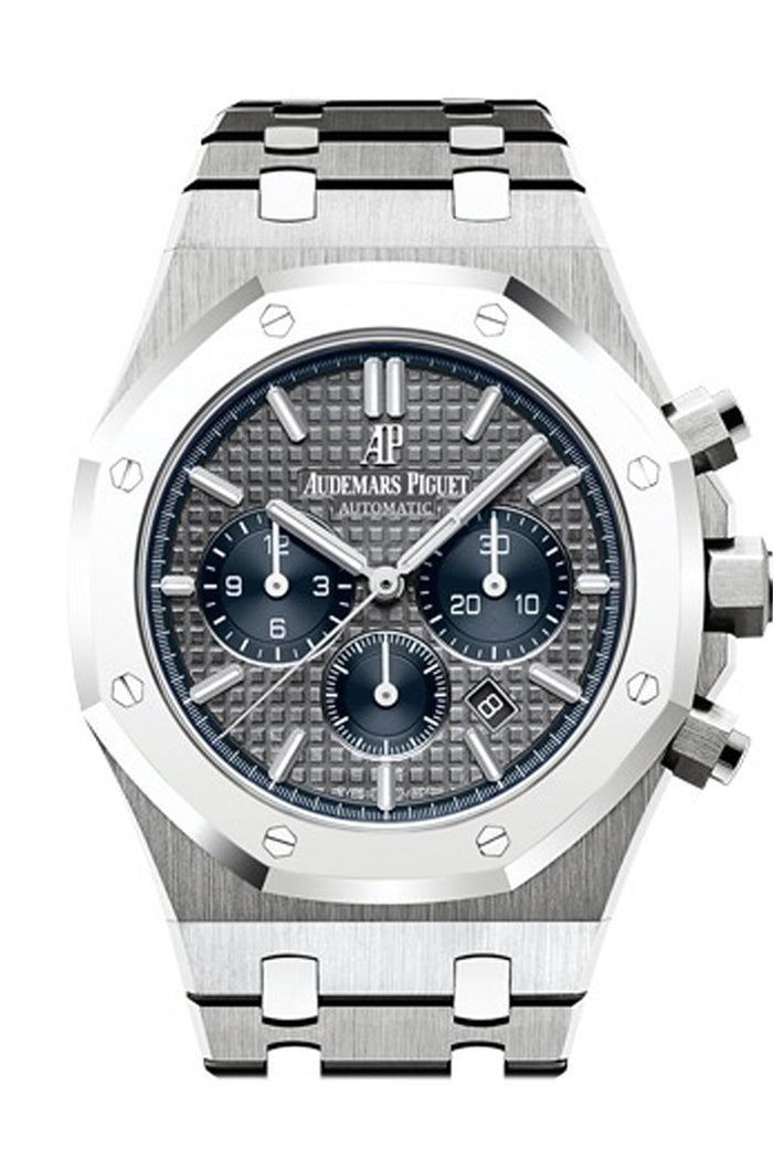 Audemars Piguet Royal Oak 41mm Slate Grey blue counters dial Titanium Men's Watch 26331IP.OO.1220IP.01