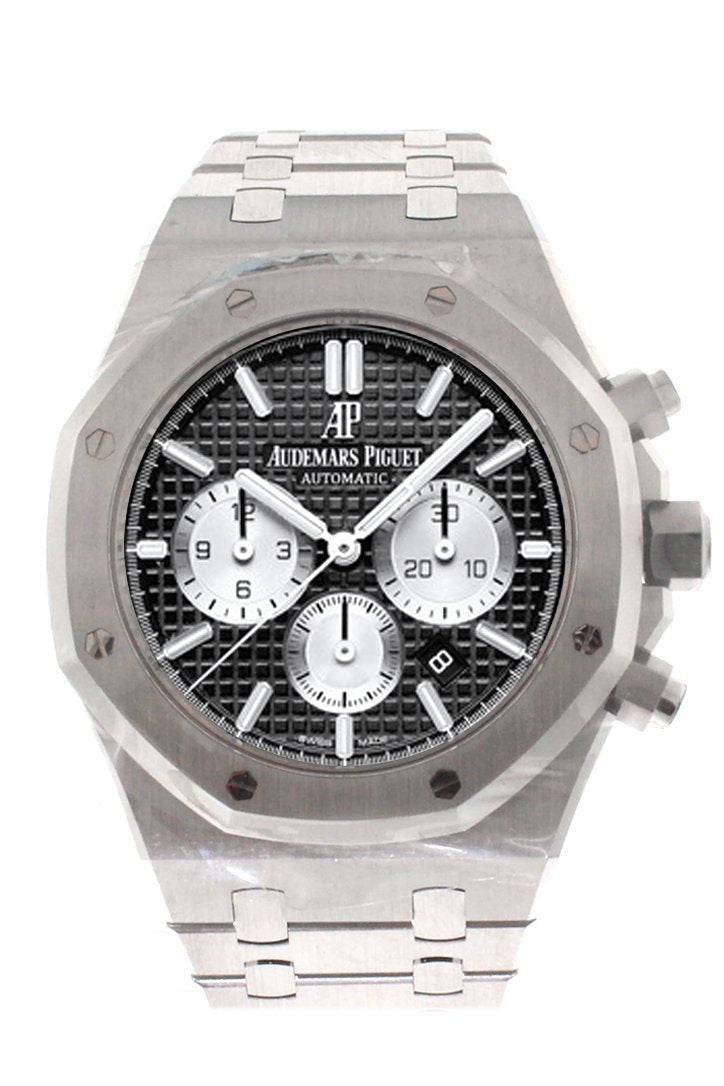 Audemars Piguet Royal Oak 41Mm Black Dial Stainless Steel Bracelet Mens Watch 26331St.oo.1220St.02