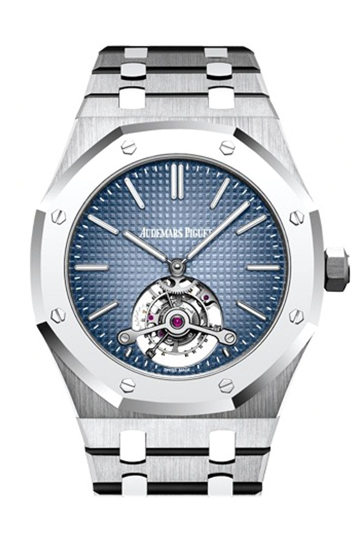 Audemars Piguet Royal Oak 41Mm Smoked Blue Dial Dial Titanium Mens Watch 26510Ip.oo.1220Ip.01