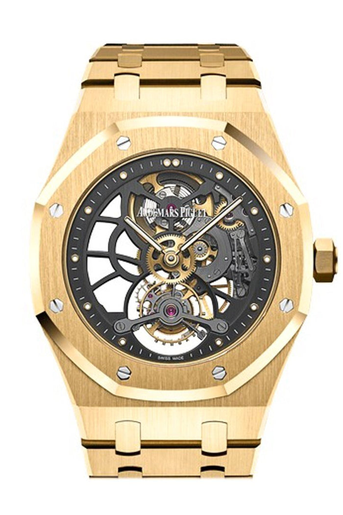 Audemars Piguet Royal Oak 41mm Tourbillon Extra- Thin Slate Grey Skeleton Dial 18K Yellow Gold Men's Watch 26513BA.OO.1220BA.01