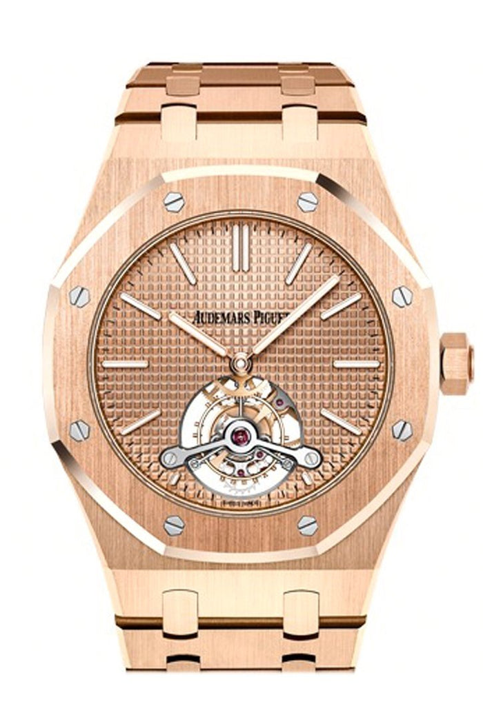 Audemars Piguet Royal Oak 41mm Pink gold-toned Dial Dial 18K Pink Gold Men's Watch 26515OR.OO.1220OR.01