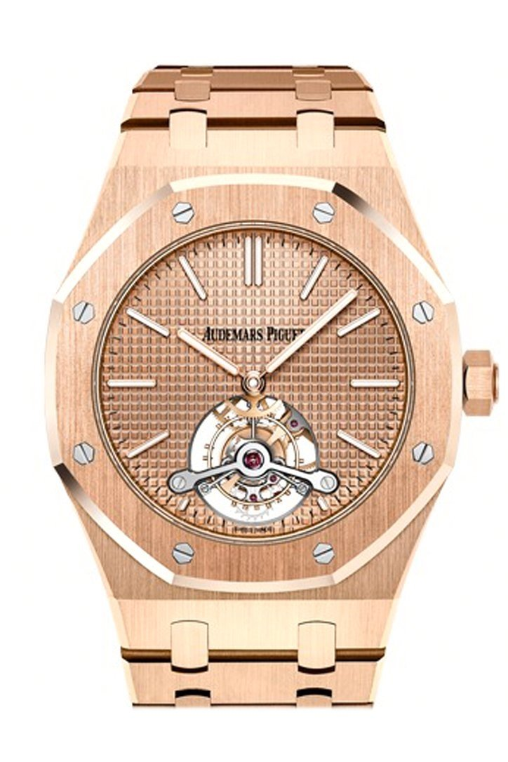 Audemars Piguet Royal Oak 41Mm Pink Gold-Toned Dial 18K Gold Mens Watch 26515Or.oo.1220Or.01