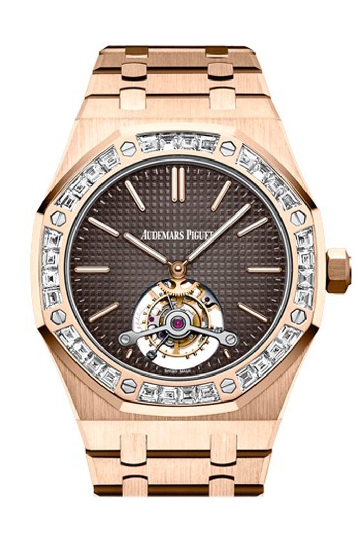 Audemars Piguet Royal Oak 41mm Brown Dial pink Dial 18K Pink Gold Men's Watch 26516OR.ZZ.1220OR.01