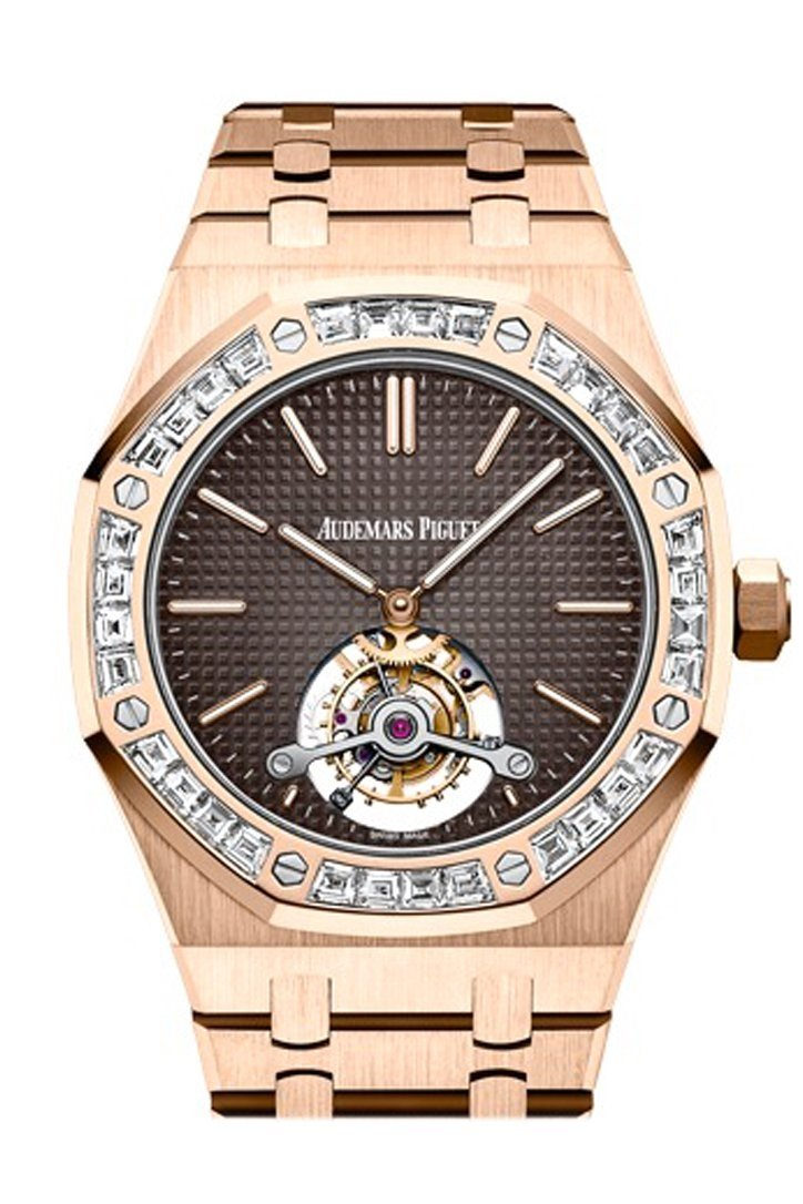 Audemars Piguet Royal Oak 41Mm Brown Dial Pink 18K Pink Gold Mens Watch 26516Or.zz.1220Or.01