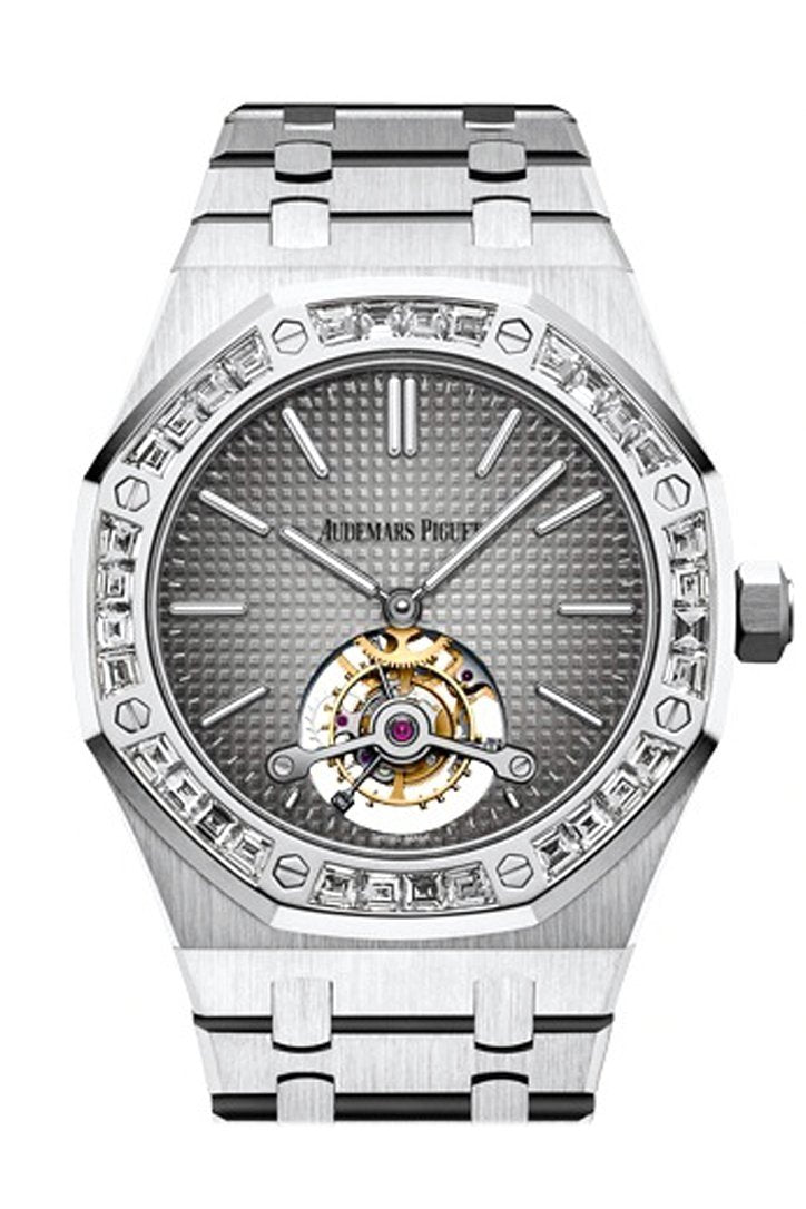 Audemars Piguet Royal Oak 41Mm Smoked Grey Dial 950 Platinum Mens Watch 26516Pt.zz.1220Pt.01