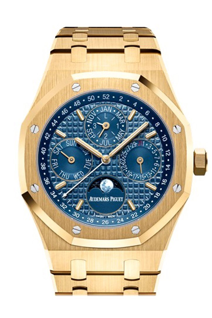 Audemars Piguet Royal Oak 41Mm Blue Dial 18K Yellow Gold Mens Watch 26574Ba.oo.1220Ba.01