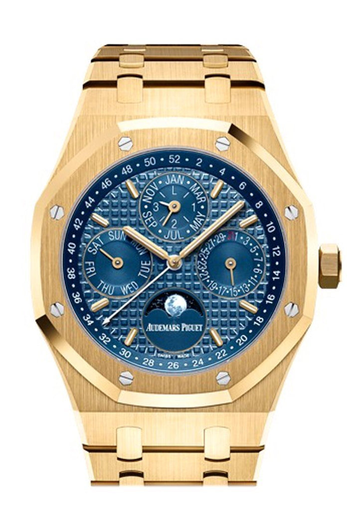 Audemars Piguet Royal Oak 41mm Blue Dial 18K Yellow Gold Men's Watch 26574BA.OO.1220BA.01