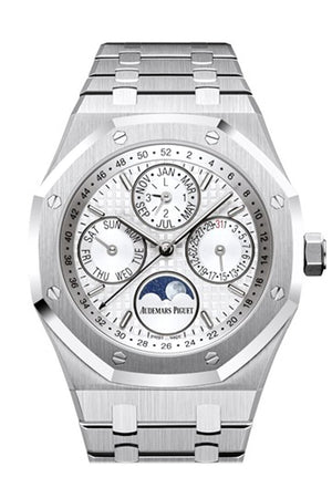 Audemars Piguet Royal Oak 41Mm Silver-Toned Dial Stainless Steel Mens Watch 26574St.oo.1220St.01