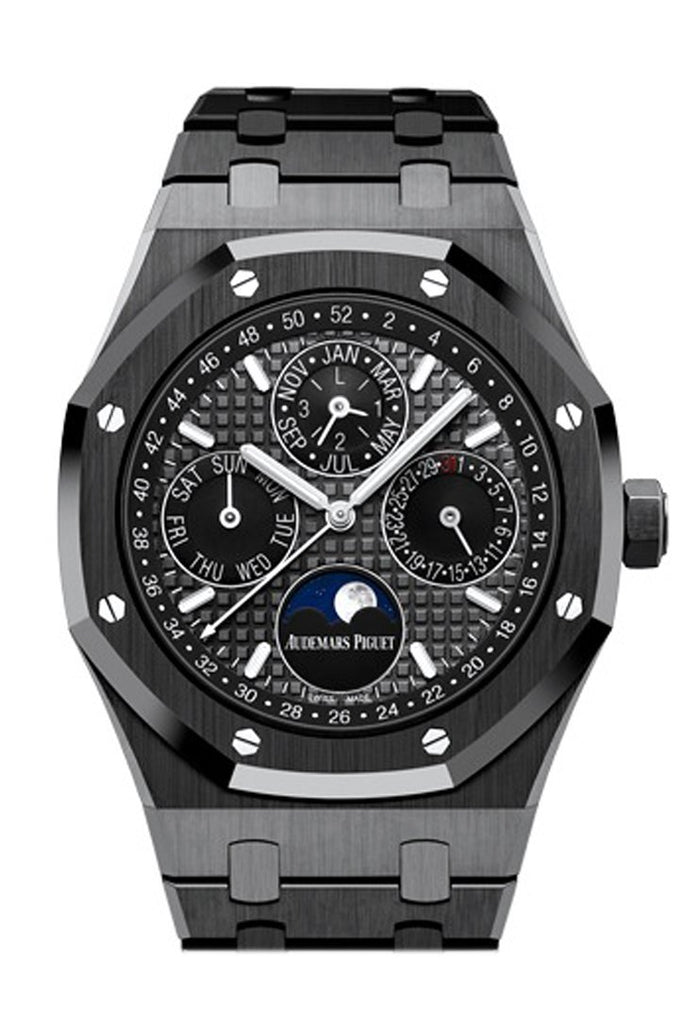 Audemars Piguet Royal Oak 41Mm Slate Grey Dial Black Ceramic Bracelet Mens Watch