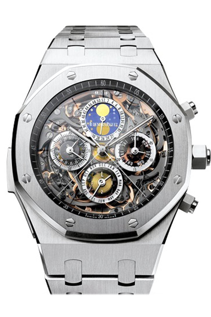 Audemars Piguet Royal Oak 44Mm Openworked Grande Complication Sapphire Dial Titanium Mens Watch