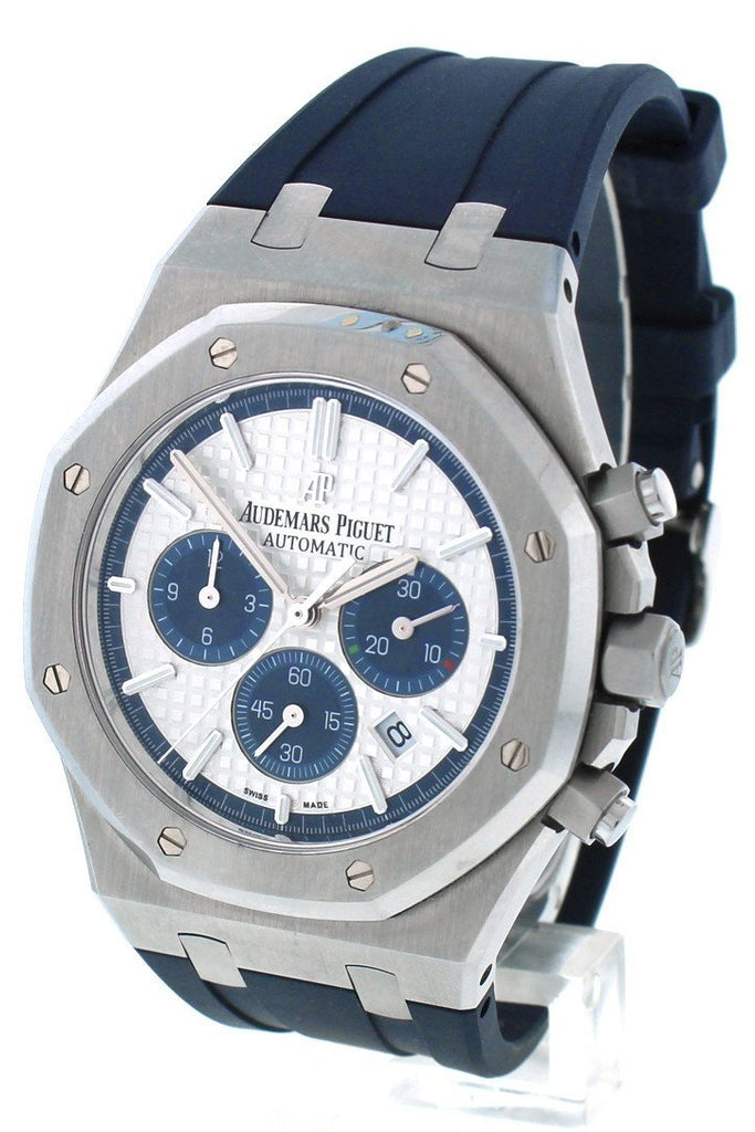 Audemars Piguet Limited Edition Royal Oak Silver Dial Rubber Chronograph Mens Watch