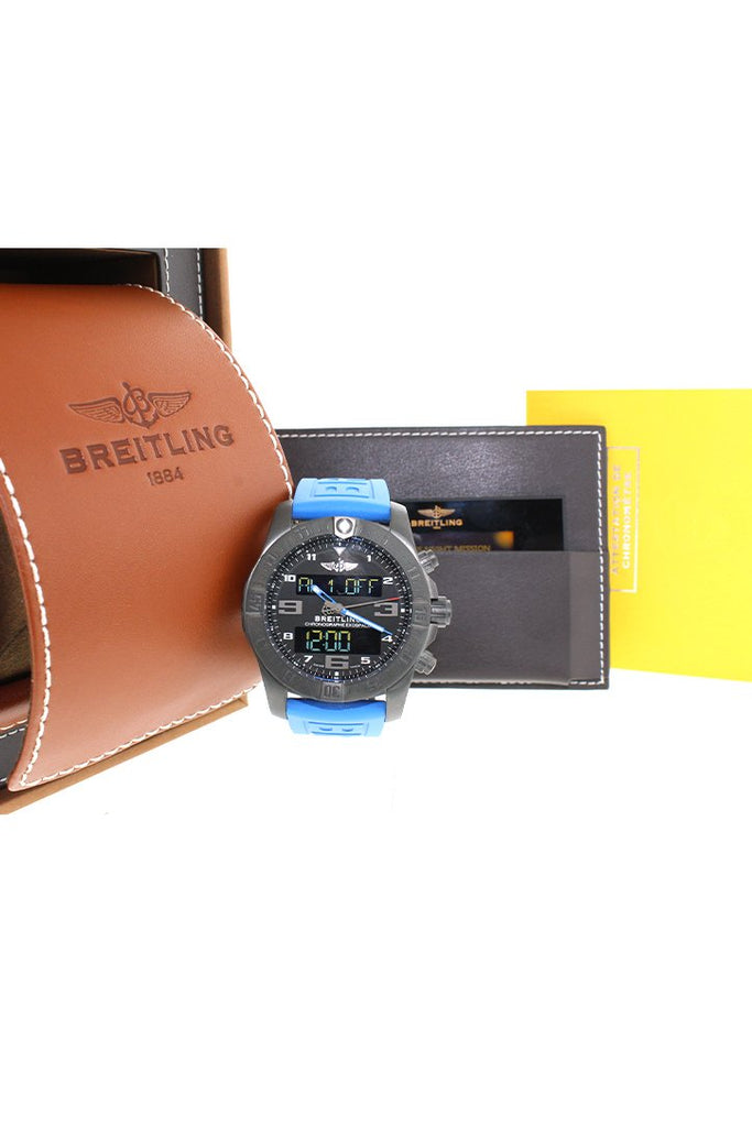 Breitling Exospace B55 Black Titanium Mens Watch Vb5510H2/be45 Pre Owned Pre-Owned-Watches