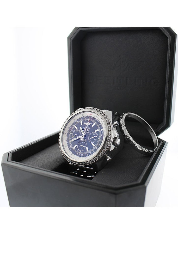 Breitling Custom Diamond Bezel Bentley 6.75 Mens Watch A4436212-B728Ss Watches