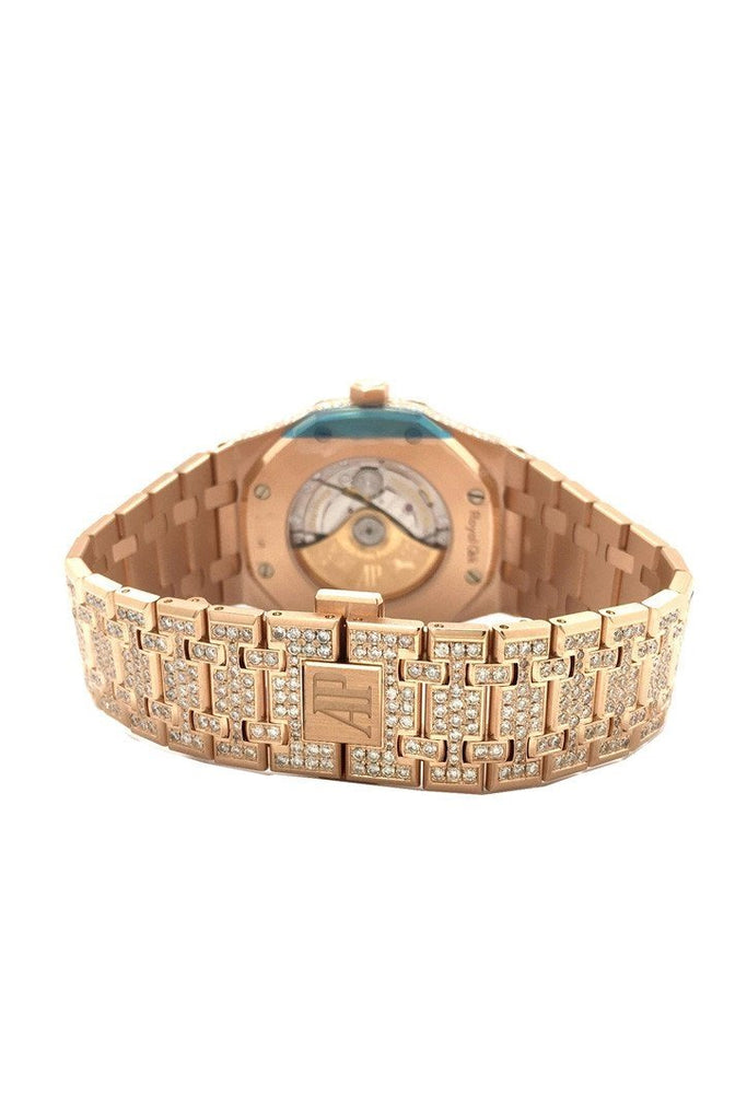 Audemars Piguet Royal Oak 41 With Custom Diamonds Pink Gold Mens Watch 15400Or.oo.1220Or.02 Watches