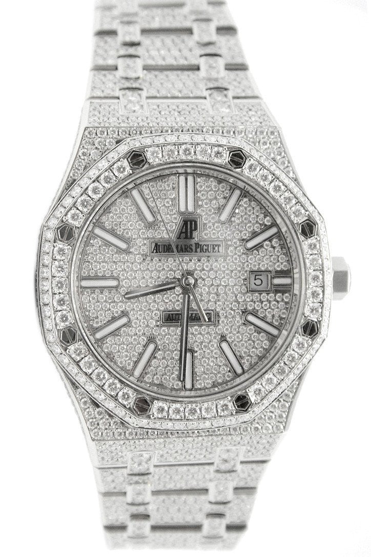 Audemars Piguet 41 Custom Diamonds Steel Mens Watch 15400St.oo.1220St.01 Diamond / None Watches