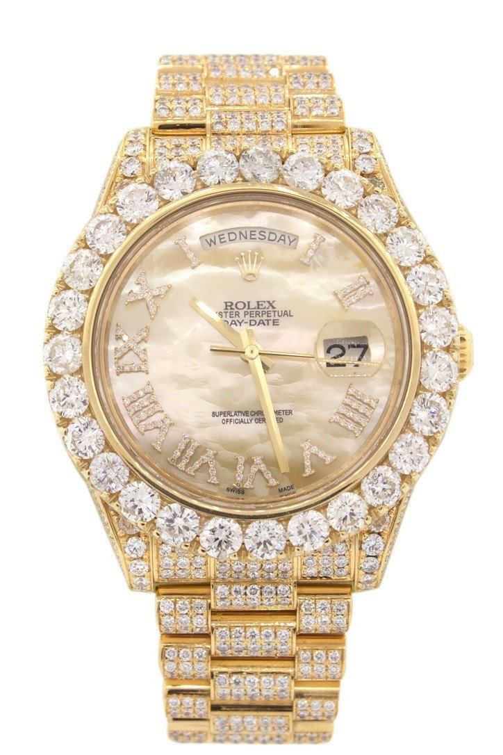 Rolex Day-Date Ii 41Mm 30T Of Custom Diamonds Mens Watch 218238 Pearl / None Watches