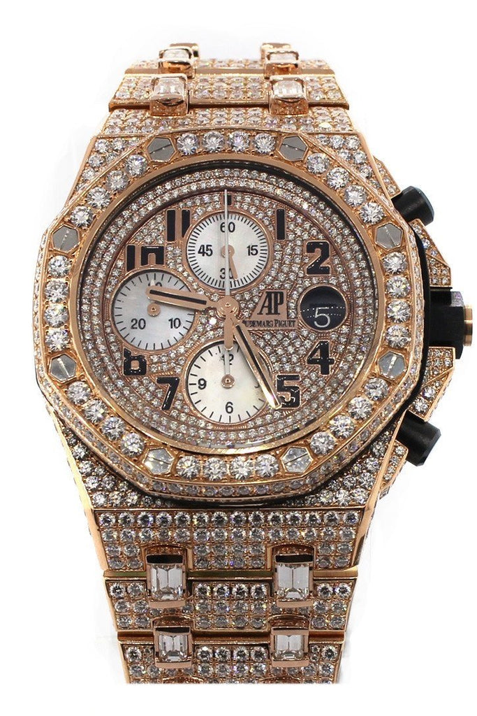 Audemars Piguet Custom Diamonds Royal Oak Offshore Chronograph Mens Watch 26470Or.oo.1000Or.01 /