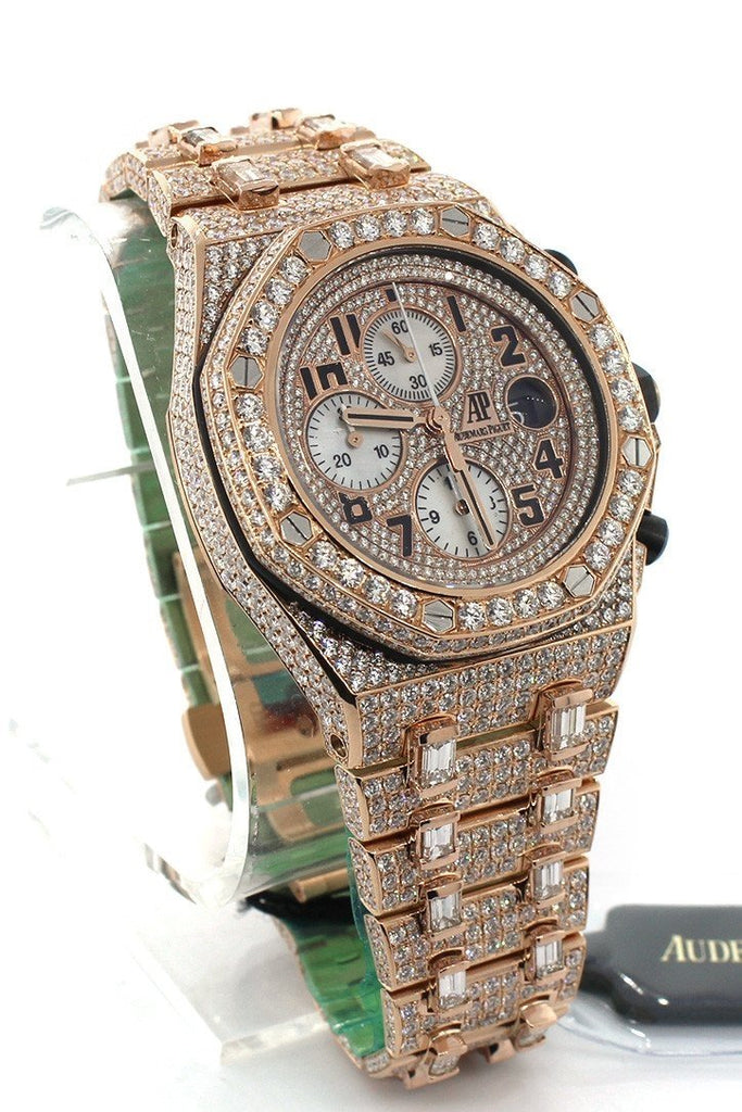 Audemars Piguet Custom Diamonds Royal Oak Offshore Chronograph Mens Watch 26470Or.oo.1000Or.01
