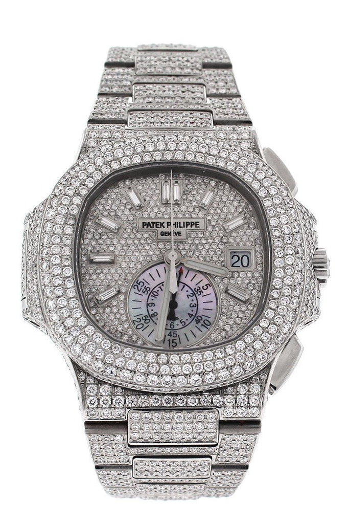 Patek Philippe Nautilus Custom Diamonds Mens Watch 5980/1A-019- Price Request Only Diamond / None