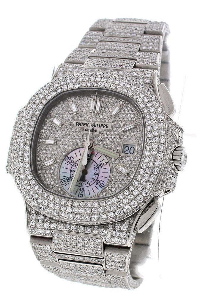 Patek Philippe Nautilus Custom Diamonds Mens Watch 5980/1A-019- Price Request Only Watches