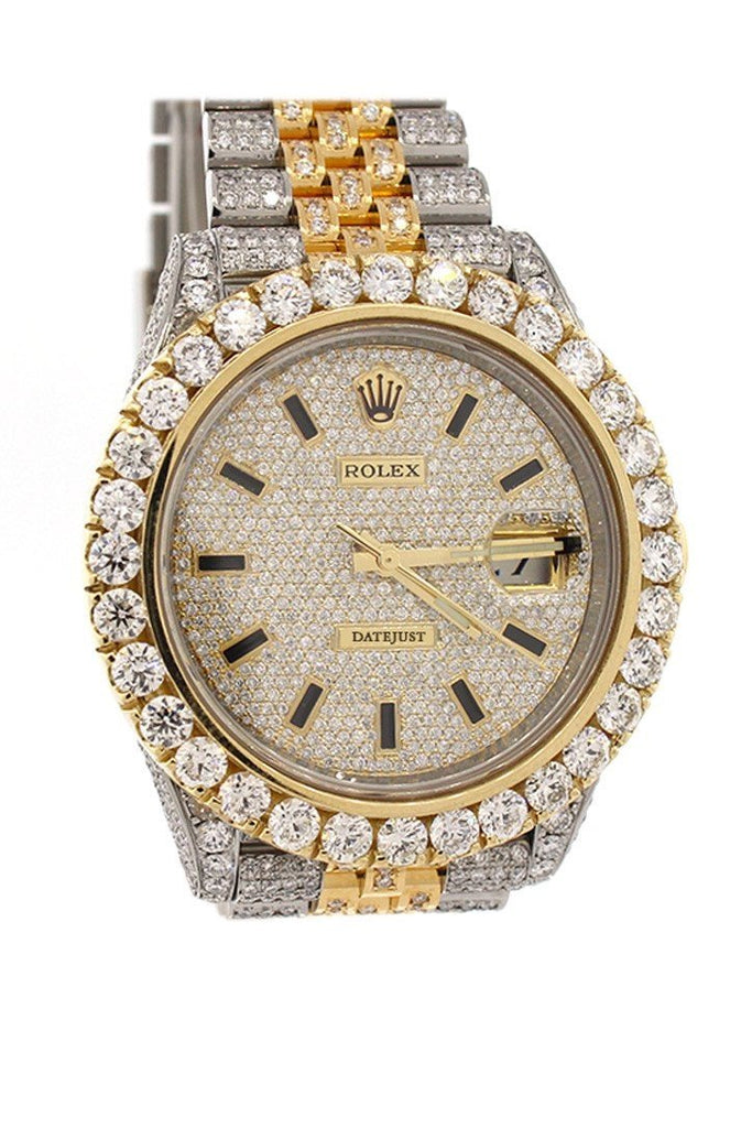 Rolex Datejust 41 Champagne Dial Steel And 18K Yellow Gold Jubilee Mens Watch 126333 Diamond / None