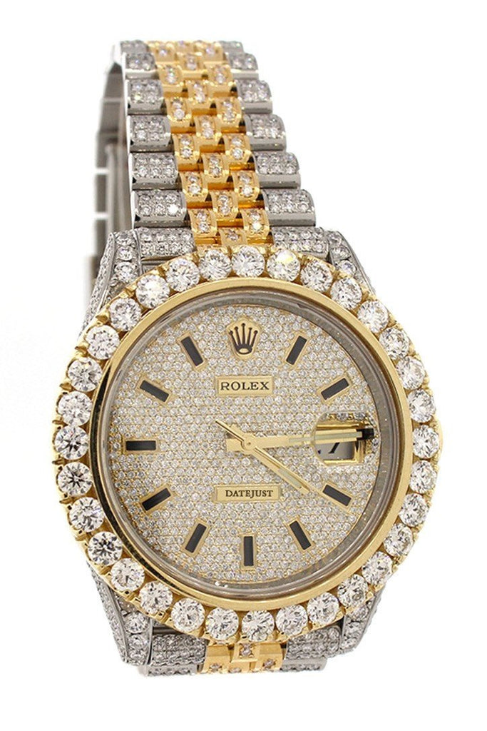 ROLEX Datejust 41 Champagne Dial Steel and 18K Yellow Gold Jubilee Men's Watch 126333