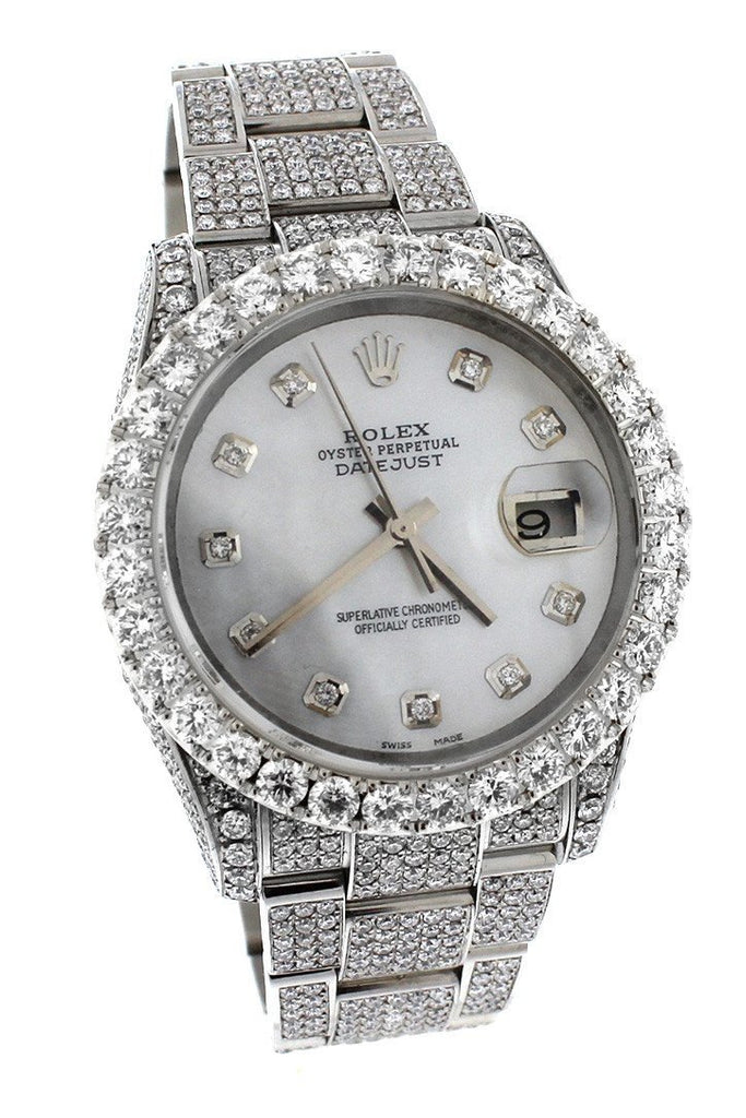 Rolex Datejust 36mm Custom Diamonds Mens Watch 116200