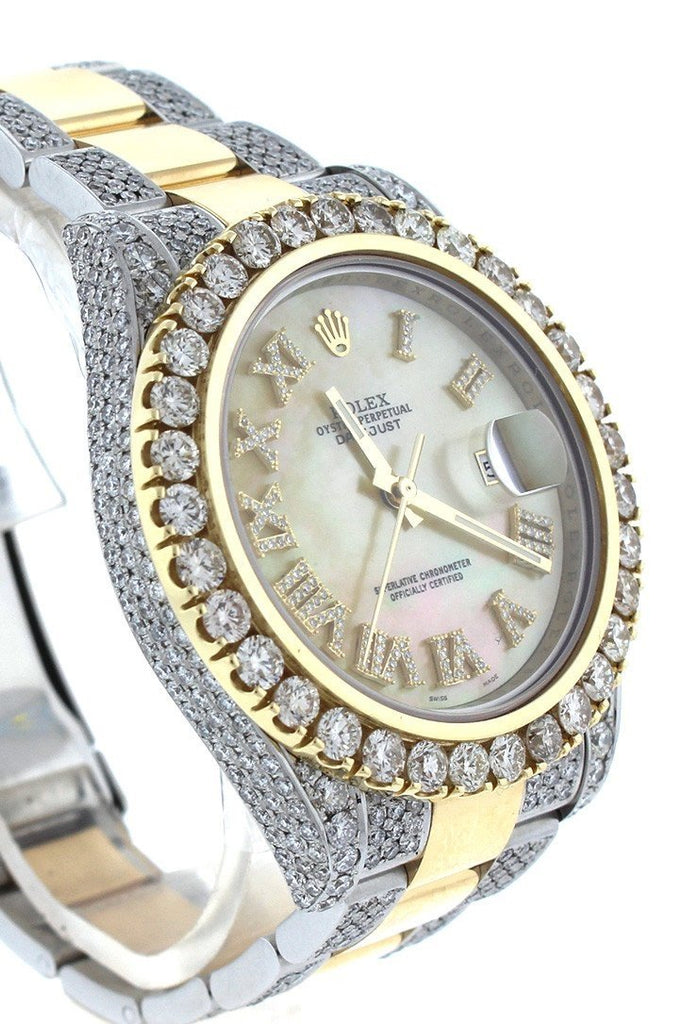 Rolex Datejust II 41 Roman Dial Custom Diamonds Mens Watch 116333