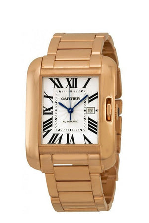 Cartier Tank Anglaise Silver Dial 18Kt Rose Gold Ladies Watch W5310003 / None