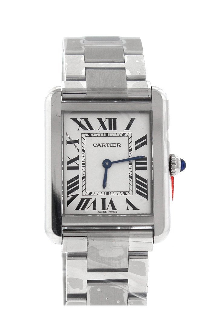 Cartier Tank Solo Small Stainless Steel Ladies Watch W5200013 Silver / None