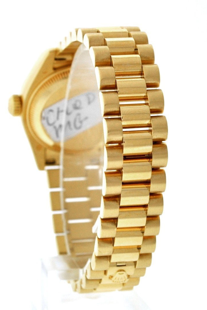 Rolex Lady-Datejust 26 Champagne Dial 18K Yellow Gold President Automatic Ladies Watch 179178