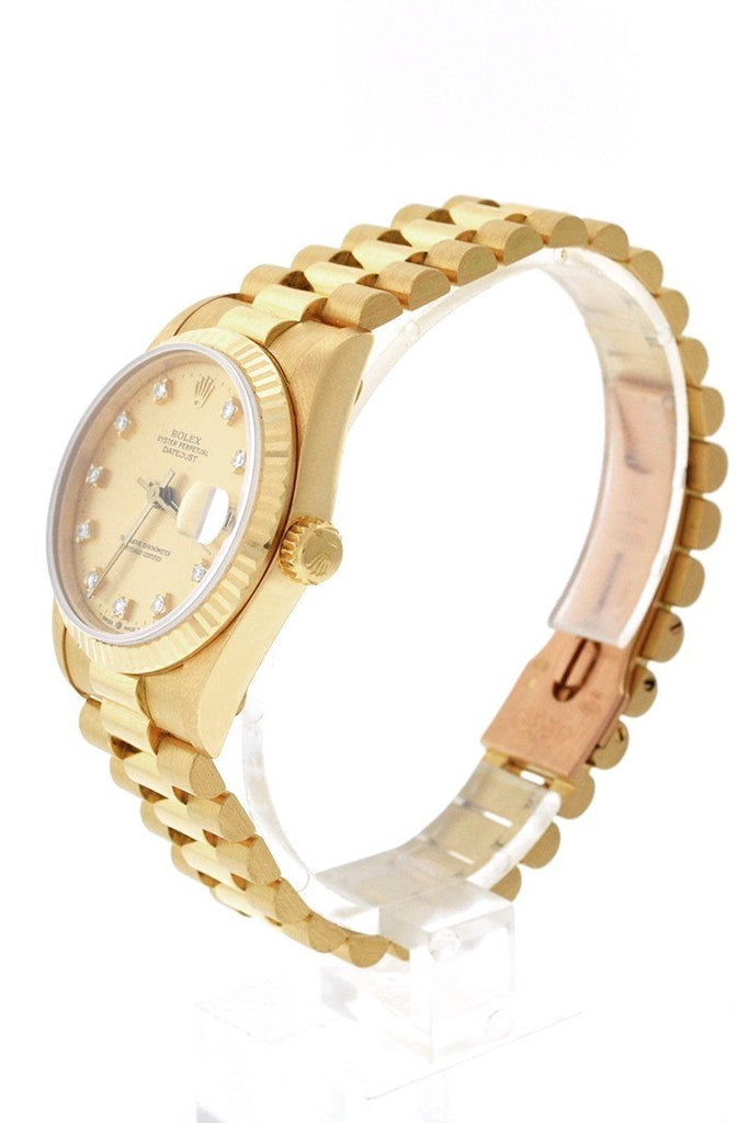 Rolex Lady-Datejust 31 Champagne Dial 18K Yellow Gold President Ladies Watch 178278