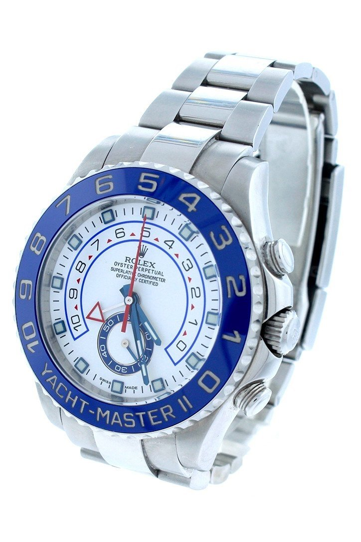 Rolex Yacht-Master Ii White Dial Stainless Steel Automatic Mens Watch 116680 / None