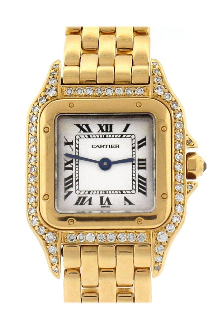 Cartier Panthère de Cartier small 18-karat pink gold diamond watch