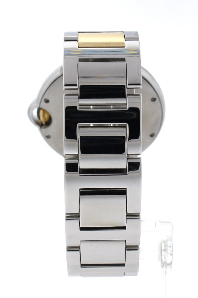 Cartier Ballon Bleu 36Mm Steel Yellow Gold Ladies Watch W69008Z3 Pre-Owned-Watches