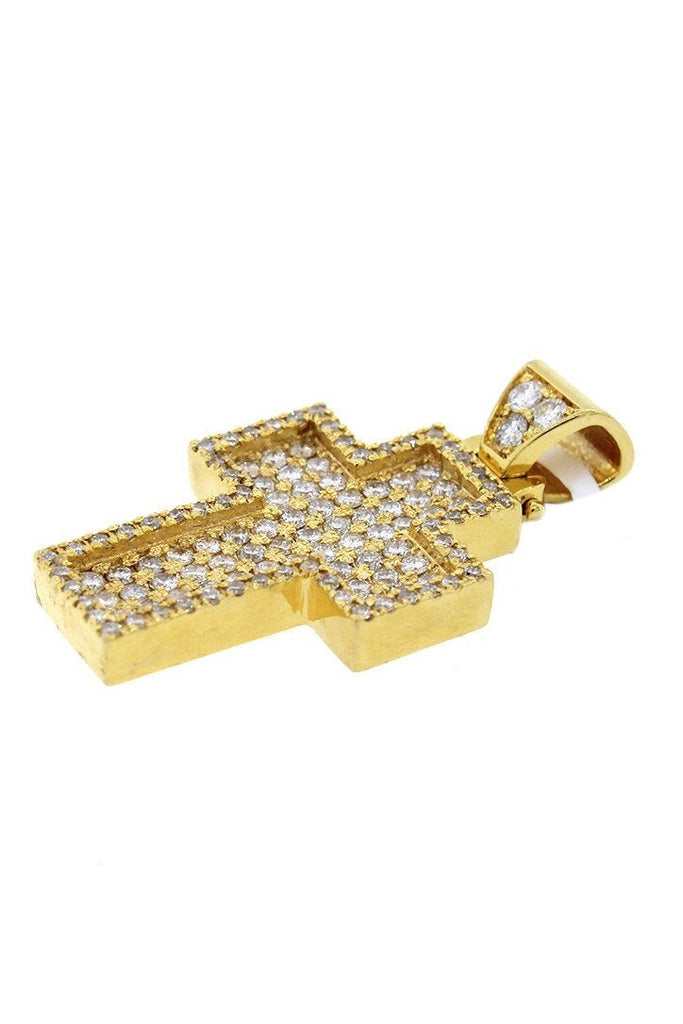 Diamond Cross Pendent 2.40Ct 14K Gold