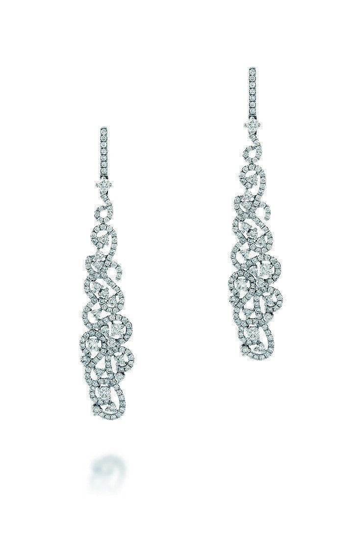 18K White Gold Vs Pave Diamond 4.20Ct Earrings Fine Jewelry