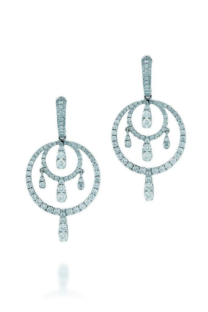 18K White Gold Vs Pave Diamond 4.50Ct Earrings Fine Jewelry