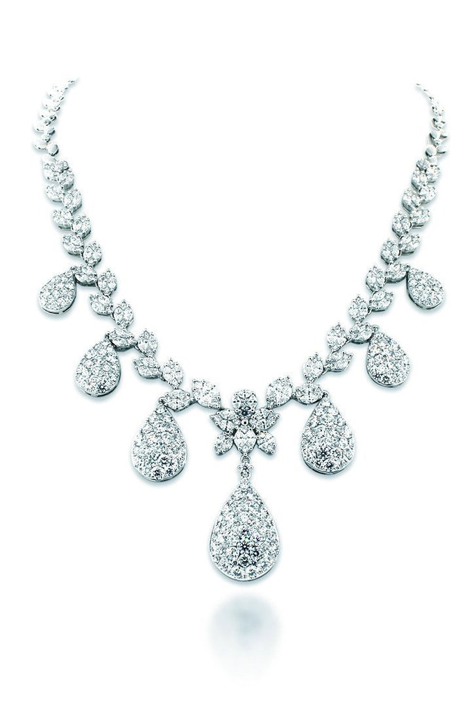 18K White Gold Vs Diamond 17.97 Necklace Jewelry
