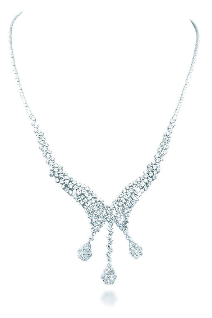18K White Gold Vs Diamond Ct Necklace Jewelry
