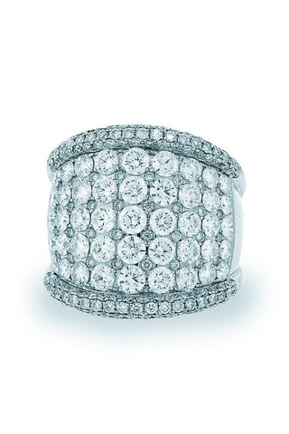 18K White Gold VS Diamond 6.30CT Ring Fine Jewelry