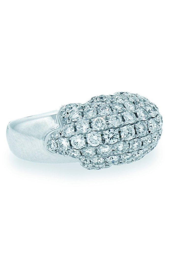 18K White Gold VS Diamond 2.86CT Ring Fine Jewelry