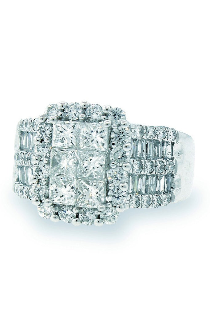 18K White Gold Vs Diamond 2.57Ct Ring Fine Jewelry