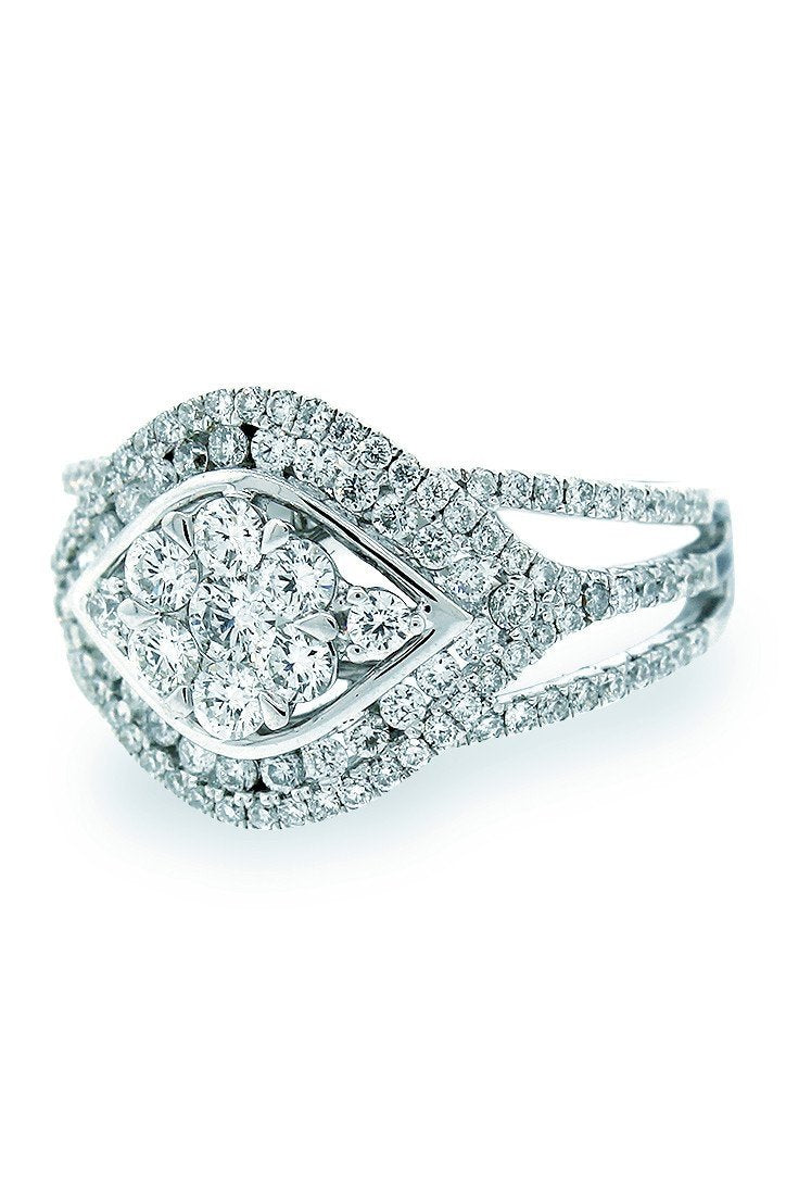 18K White Gold Vs Diamond 1.01Ct Ring Jewelry