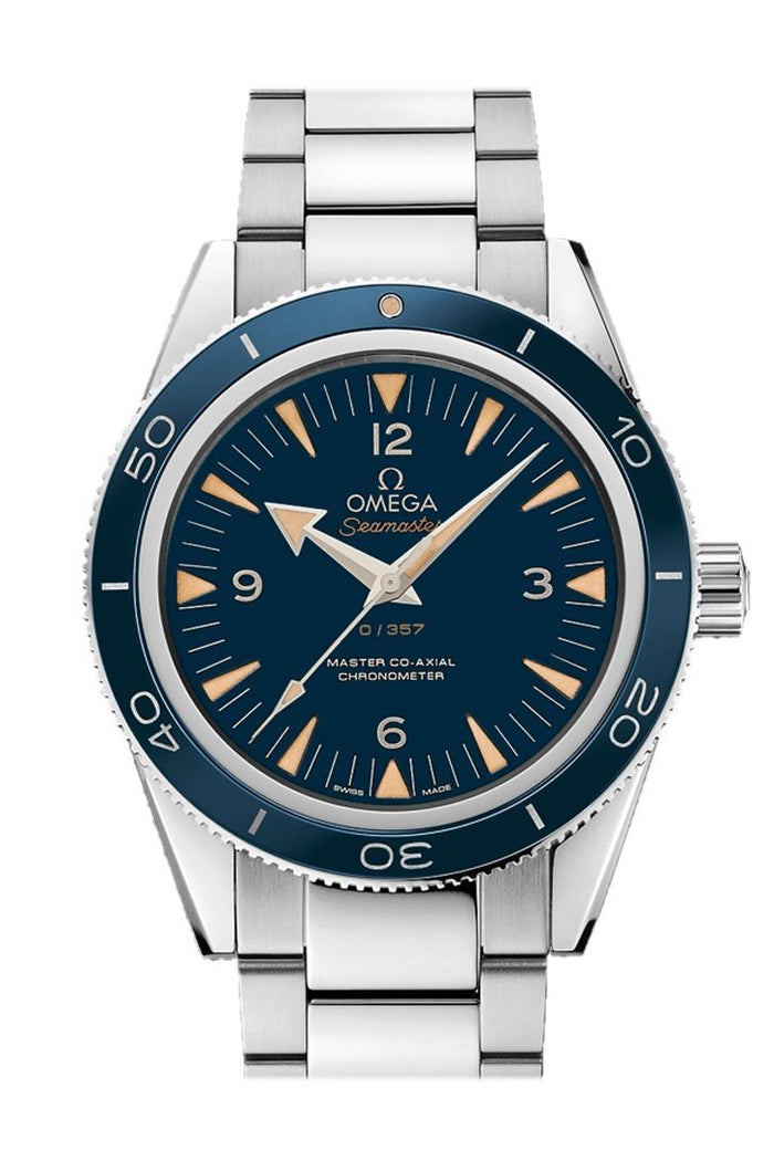 Omega Seamaster 300 Master Co-axial 41mm Automatic Black Dial Platinum Men's Watch 233.90.41.21.03.002