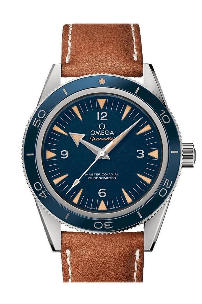 Omega Seamaster 300 Master Co-axial 41mm Automatic Blue Dial Titanium Men's Watch 233.92.41.21.03.001